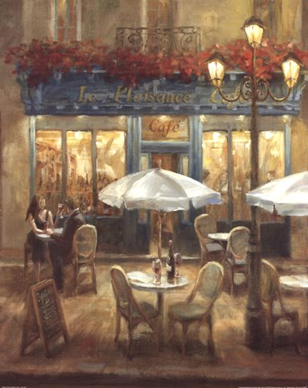 Framed Paris Cafe I Crop Print