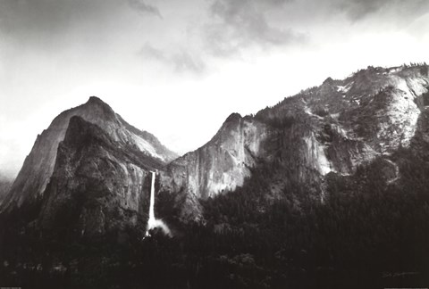 Framed Sun and Snow - Bridalveil Fall Print
