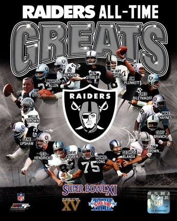 Framed Oakland Raiders All Time Greats Composite Print