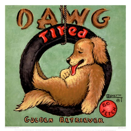 Framed Dawg Tired Print