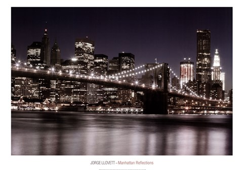 Framed Manhatten Reflections Print