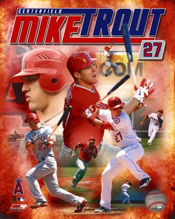 Framed Mike Trout 2012 Portrait Plus Print