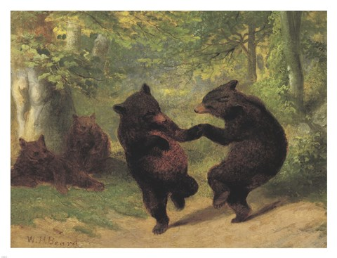 Dancing Bears Fine Art Print By William Holbrook Beard At