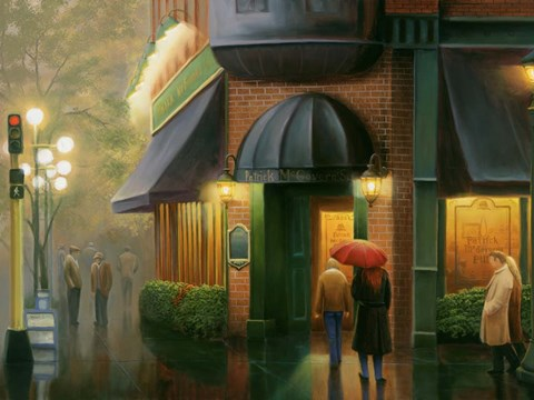 Framed Rainy Day Pub Print
