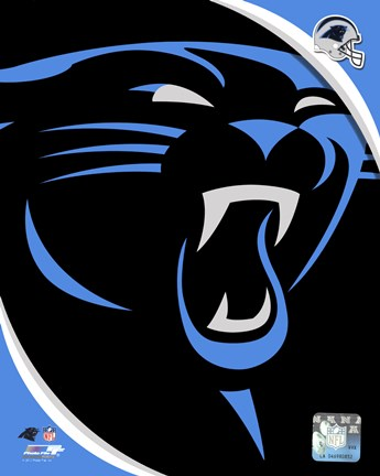 Framed Carolina Panthers 2012 Team Logo Print