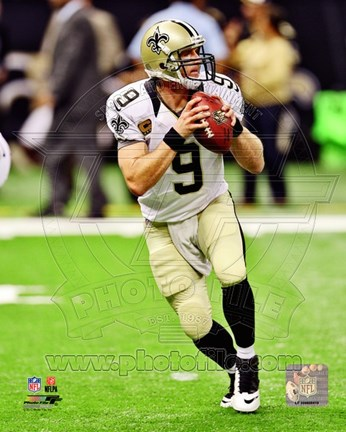 Framed Drew Brees 2012 Action Print
