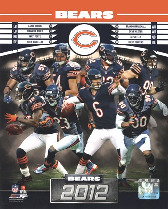 Framed Chicago Bears 2012 Team Composite Print