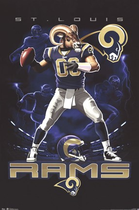 Framed Rams Quarterback 12 Print