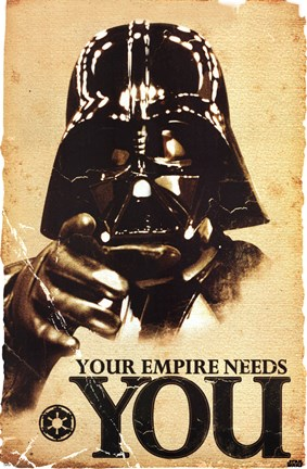 Framed Star Wars - Your Empire Print