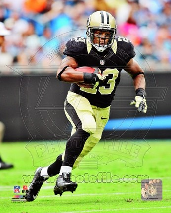 Framed Pierre Thomas 2012 Action Print