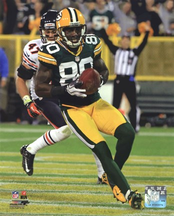 Framed Donald Driver  2012 Action Print