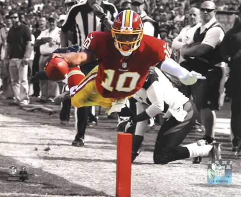 Framed Robert Griffin III 2012 Spotlight Action Print