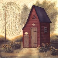 Folk Art Outhouse II  Fine Art Print