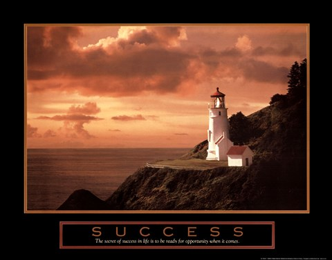 Framed Success-Lighthouse Print