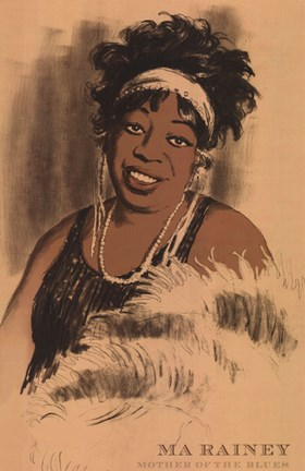 Framed Ma Rainey Print