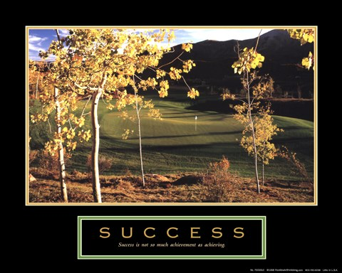Framed Golf-Success Print