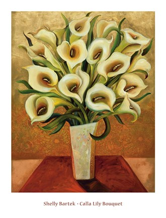 Framed Calla Lily Bouquet Print