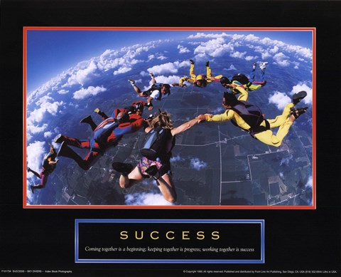 Framed Success - Skydivers Print
