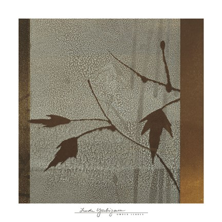 Framed Umber Leaves Print