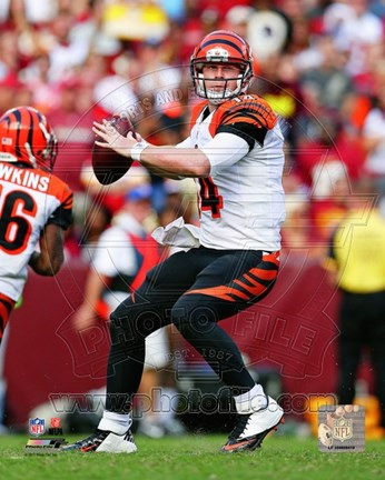 Framed Andy Dalton 2012 Action Print