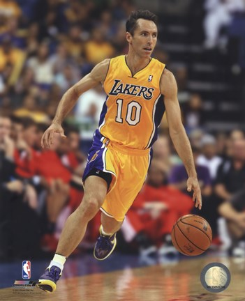 Framed Steve Nash 2012-13 Los Angeles Lakers Print