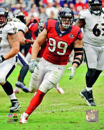 Framed J.J. Watt 2012 Running Action Print