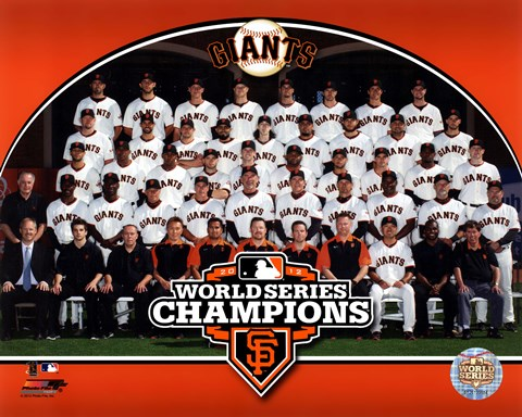 Framed San Francisco Giants 2012 World Series Champions Team Photo Print