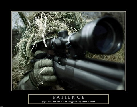 Framed Patience - Military Man Print