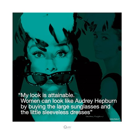 Framed Audrey Hepburn- Attainable Print