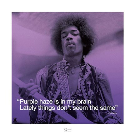 Framed Jimi Hendrix- Purple Haze (lyric) Print