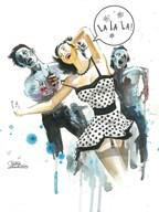 Zombie Love  Fine Art Print
