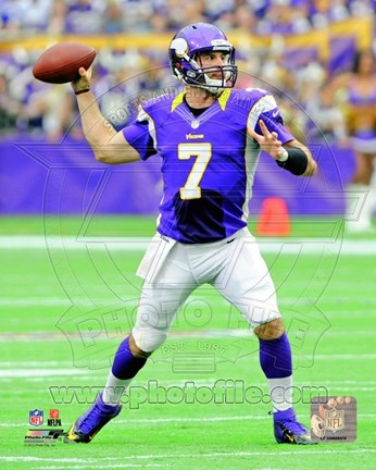 Framed Christian Ponder 2012 throwing the ball Print