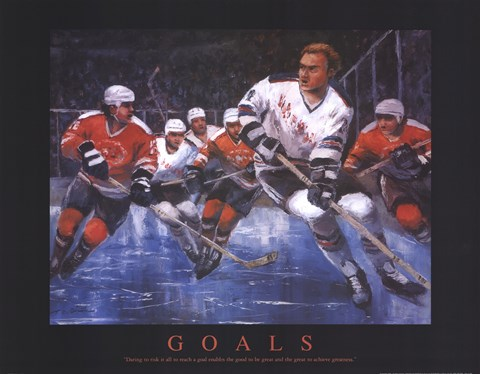 Framed Hockey - Goals Print