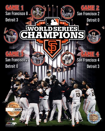 Framed San Francisco Giants 2012 World Series Champions PF Gold Composite - Limited Edition Print