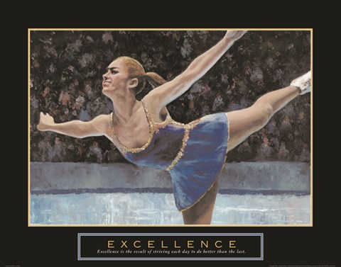 Framed Excellence - Ice Skater Print