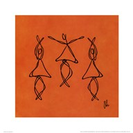 Hope - Orange Dancers Art