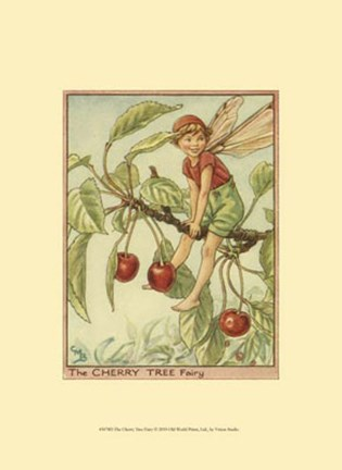 Framed Cherry Tree Fairy Print