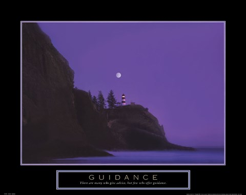 Framed Guidance - Lighthouse Print