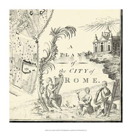 Framed City of Rome Grid IX Print