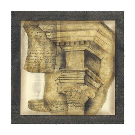 Framed Antique Capitals IV Print