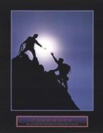 Teamwork-Climbers  Fine Art Print