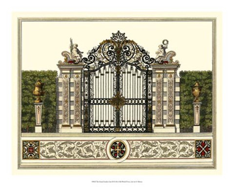 Framed Grand Garden Gate II Print