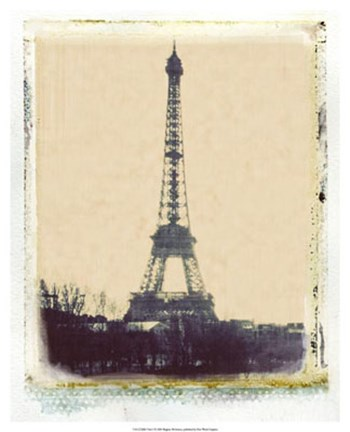 Framed Eiffel View I Print