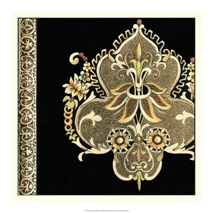 Framed Regal Adornment I Print