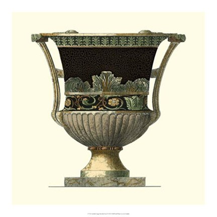 Framed Crackled Large Giardini Urn I Print
