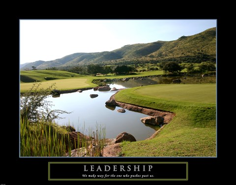 Framed Leadership-Golf Print