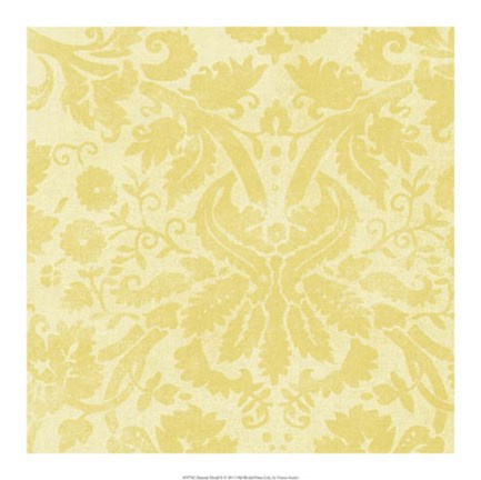 Framed Damask Detail II Print