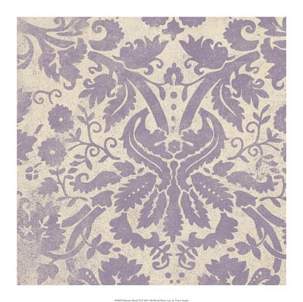 Framed Damask Detail VI Print
