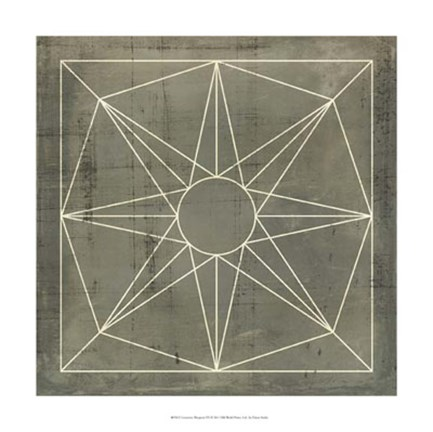 Framed Geometric Blueprint VII Print