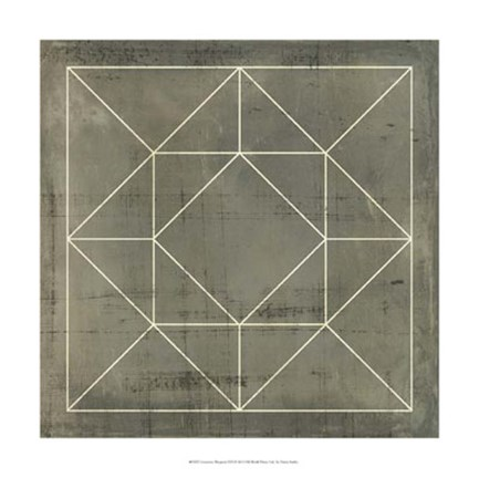 Framed Geometric Blueprint VIII Print